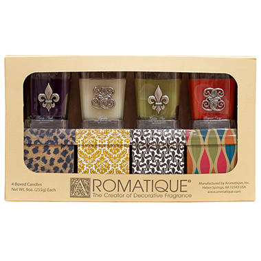 Aromatique Cube Candles - 4 pk.