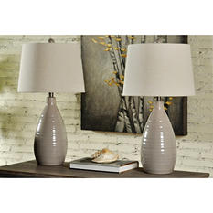 Grey Ceramic Table Lamps (2 pk.)