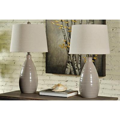 Grey Ceramic Table Lamps (2 pk.)