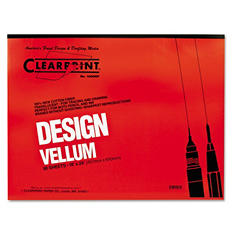 Clearprint Design Vellum Paper, 16lb, White, 18 x 24, 50 Sheets)