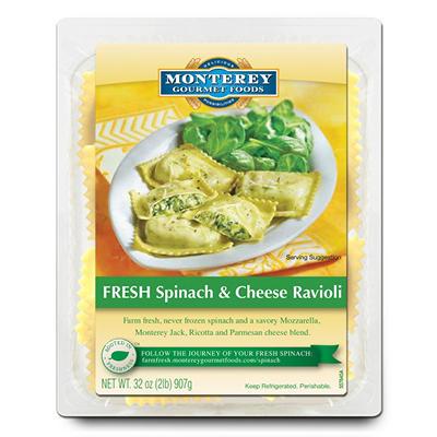 Monterey Gourmet Foods Fresh Spinach & Cheese Ravioli (32 oz.)