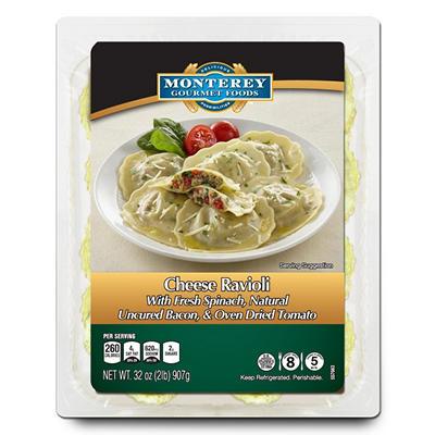 Monterey Gourmet Foods Bacon, Spinach & Tomato Ravioli (32 oz.)