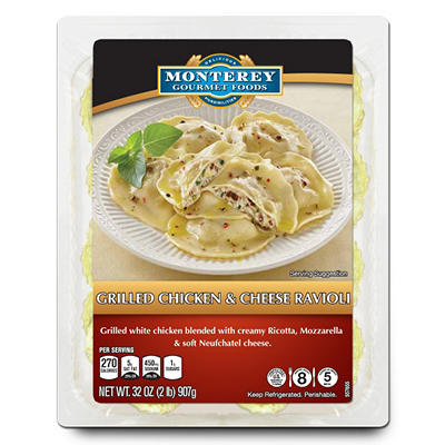 Monterey Gourmet Foods Grilled Chicken & Cheese Ravioli (32 oz.)
