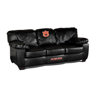 College Black Leather Sofa - Various Teams
