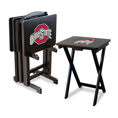 College TV Trays with Stand - Ohio State