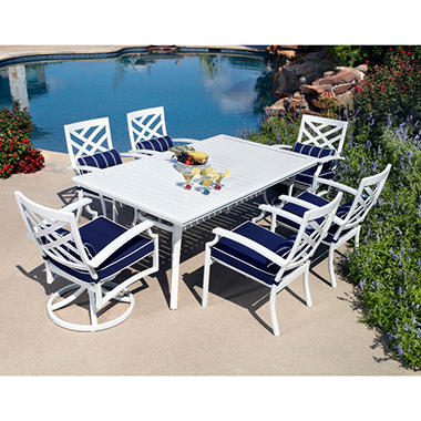 Spring Harbor Outdoor Patio Dining Set 7 pc.  Original Price $999.00  Save $426.00