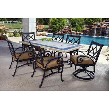 Monte Carlo Outdoor Patio Dining Set 7 pc.   Original Price $1299.00  Save $100.00