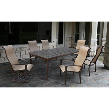 Westfield 7 pc. Dining Set with Premium Sunbrella® Fabric, Original Price $1299.00
