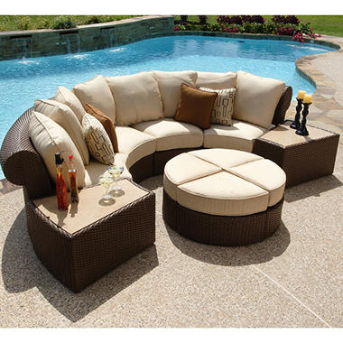 Isola Wicker Outdoor Patio Sectional Furniture Set - 7 pc. - Sam - Outdoor Sectional Patio Furniture's ...