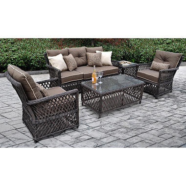 Renees 5 pc. Deep Seating Set with Premium Sunbrella® Fabric, Original Price $1299.00