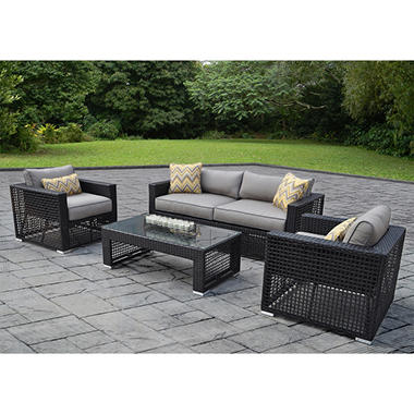 Soho 4 pc. Deep Seating Set with Premium Sunbrella® Fabric, Original Price $999.00