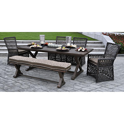 Renees 6 pc. Dining Set with Premium Sunbrella® Fabric, Original Price $1599.00