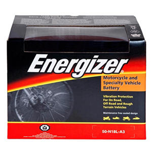 Energizer PowerSport Battery - Group Size 50N18LA3