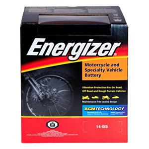 Energizer AGM PowerSport Battery - Group Size 14BS