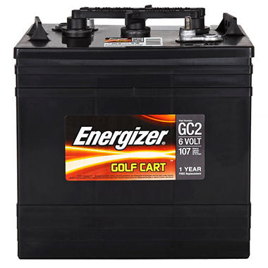 Energizer Golf Cart Battery - Group Size GC2