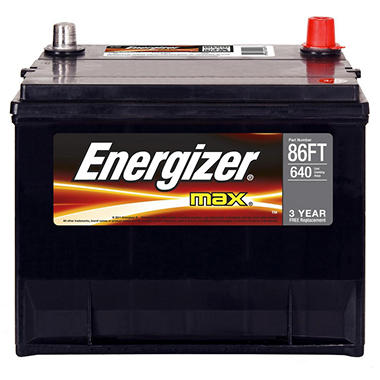 Energizer - 12 volt Automotive Battery Group Size 86FT