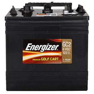 Energizer 6 Volt Premium Golf Cart Battery - Group Size GC2