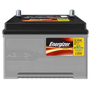 Energizer AGM Automotive Battery - Group Size 34