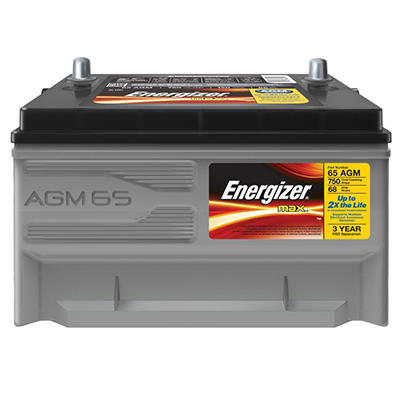 Energizer AGM Automotive Battery - Group Size 65