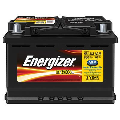 Energizer AGM Automotive Battery - Group Size H6 LN3