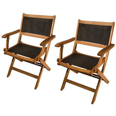 Sea Breeze Folding Arm Chair - 2 pk.