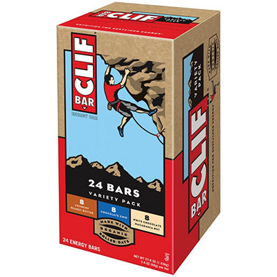 CLIF Bar Energy Bar, Variety Pack - 2.4 oz. - 24 ct.