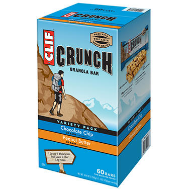 CLIF Crunch Granola Bar,  Variety Pack - 60 Bars