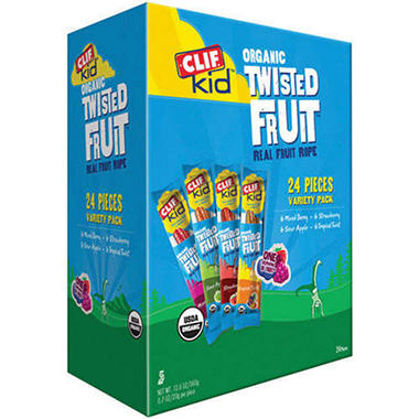 Clif® Kid's Organic Twisted Fruit Variety - 24ct