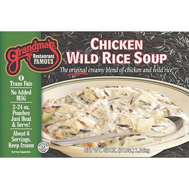 Grandma's Chicken & Wild Rice Soup - 2 pouches / 48 oz.