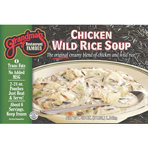 Grandma's Restaurant Famous Chicken Wild Rice Soup  (2 ct., 48 oz. pouches)