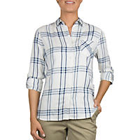 Ladies Lightweight Plaid Shirt