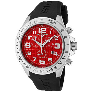 Swiss Legend Men's Eograph Chronograph Red Grid Dial Watch