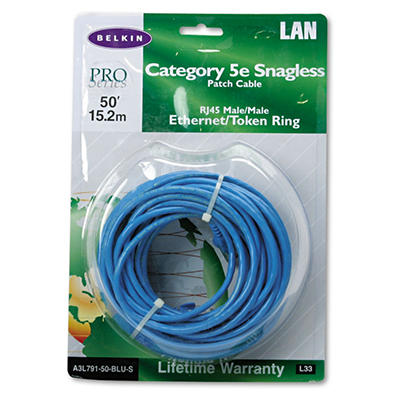 Belkin® Cat5e 10/100 Base-T Patch Cable - 50' - BE
