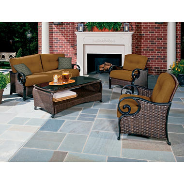 La-Z-Boy Outdoor Isabella Deep Seating Set Outdoor Patio Furniture Set - 4 pc.