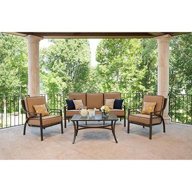 La-Z-Boy Outdoor Jax 4 pc. Deep Seating Set with Premium Sunbrella® Fabric, Original Price $899.00