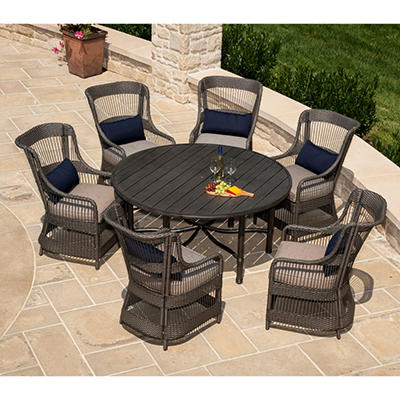 La-Z-Boy Outdoor Juliette 7 pc. Patio Dining Set with Premium Sunbrella® Fabric, Original Price $1299.00
