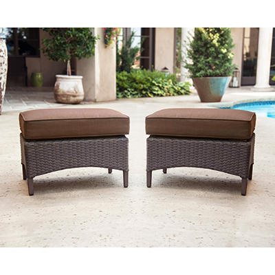 La-Z-Boy Outdoor Eva Ottoman with Premium Sunbrella® Fabric - 2 pk.