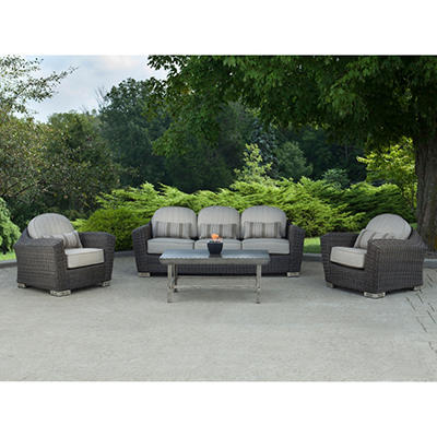 Earhart 4-Piece Deep Seating Set with Premium Sunbrella® Fabric