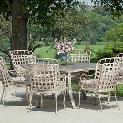 Earhart 7-Piece Dining Set with Premium Sunbrella Fabric