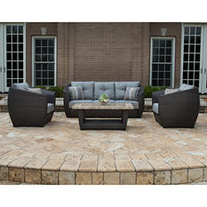Madrid 4-Piece Deep Seating Set with Premium Sunbrella® Fabric