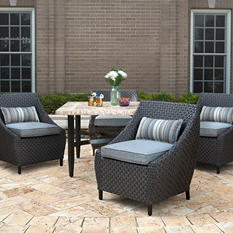 Madrid 5-Piece Dining Set with Premium Sunbrella Fabric