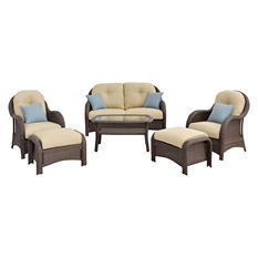 Newport 6-Piece Woven Seating Set, Assorted Color Choices