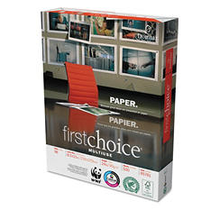 Domtar FirstChoice Premium Multi Use Copy Paper, 98 Brightness, 8-1/2 x 11, White, 5000 Sheets/Carton