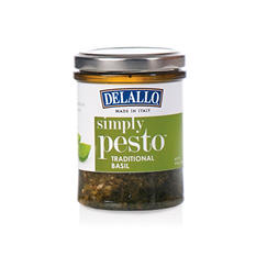 DeLallo Simply Pesto Traditional Basil Sauce (6.35 oz.,12 ct.)