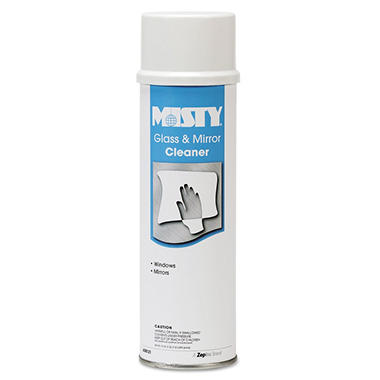 Misty Glass & Mirror Cleaner w/Ammonia, 19oz Aerosol -  12/Carton