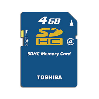 Toshiba SDHC Memory Card - 4GB, Class 4