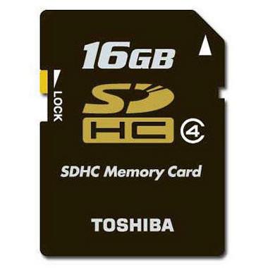 Toshiba SDHC Memory Card - 16GB, Class 4