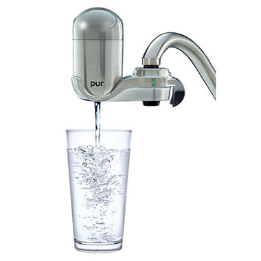Pur Advanced Faucet Water Filter Stainless Steel Style Sam 39 S Club