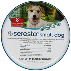 Bayer Seresto Flea & Tick Collar, Small Dog (Up to 17 lbs.)