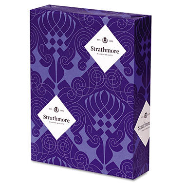 Strathmore - Pure 100% Cotton Fine Paper, 24lb, White - Ream